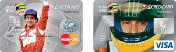 Os cartões decrédito do Instituto Ayrton Senna, com a imagem de Senna  alcançaram grande sucesso