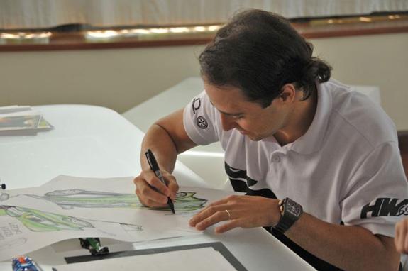 Massa coloca a mão na massa ou melhor no lápis e papel e desenha Hot Wheels