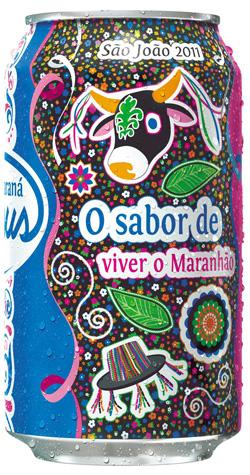 Embalagem comemorativa do Guaraná Jesus
