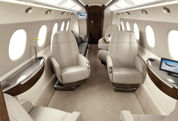 Interior do Legacy 500 traz conforto e design para quem quer aproveitar a vida