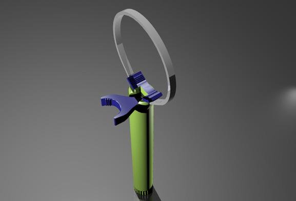 Fita de aço com regulagem permite adaptar o abridor a qualquer tamanho de tampa