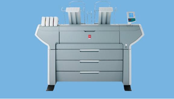 Océ Color Wave 600 usa tecnologia de impressão Océ CrystalPoint, que derrete e fixa pérolas de toner