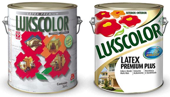 Confira as mudanças na embalagem da tinta Latex Premium: antiga à esquerda e nova à dirreira