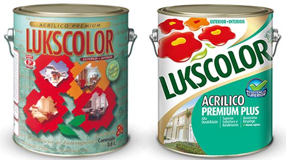 Confira as mudanças na embalagem da tinta Acríico Premium: antiga à esquerda e nova à direita