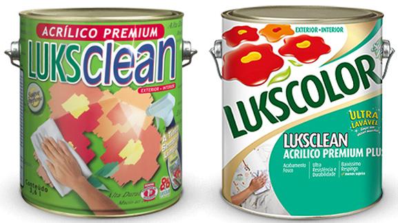 Confira as mudanças na embalagem da tinta Luksclean Premium: antiga à esquerda e nova à direita