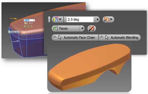 A feature Face Draft permite ao usuário obter preview do modelo 3D em tempo real