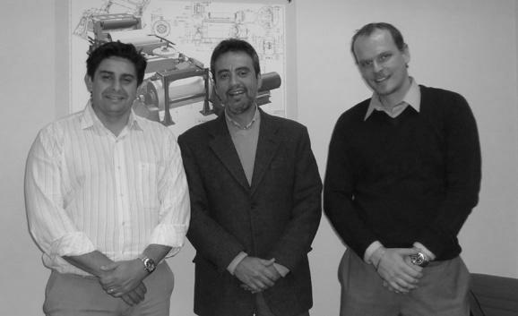 Da esq. p/dir.: Aturo Ortolo, Paulo Leal da Costa e Dan Siqueira, executivos da Siemens PLM