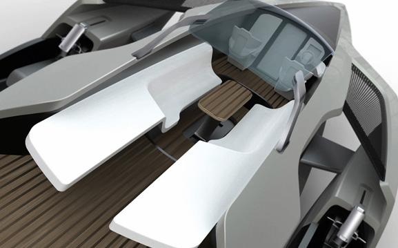 Os jet skis ajudam a barco a aquaplainar mais rápido, utilizando menos combustível