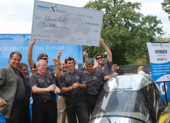 Equipe Edison2 recebeu prêmio de 5 milhões da X Prize Foundation, que incentiva sustentabilidade