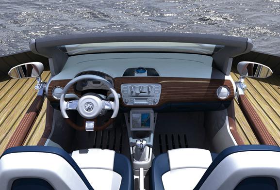 up! azurra mostra luxo e design atraente deste carro conceito que irá passear pelas praias de Europa