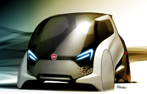 Fiat Mio, carro conceito desenhado pela Fiat que sintetizou e ideias de mais de 17 mil internautas