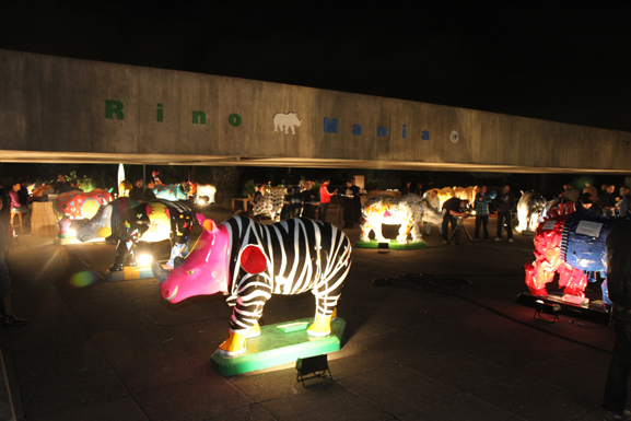 Depois de passar por exposição no Mube rinos foram distribuidos em exposição urbana