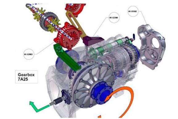 Explicação de detalhes de montagem de produto concebida no 3DVIA Composer