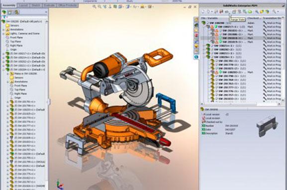 Dados de produto criado no CAD SolidWorks são gerenciados no SolidWorks PDM