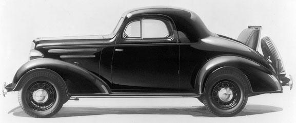 Chevrolet Master Deluxe Spor Coupe chegou ao mercado em 1935 para aos que gostavam de carros esportivos