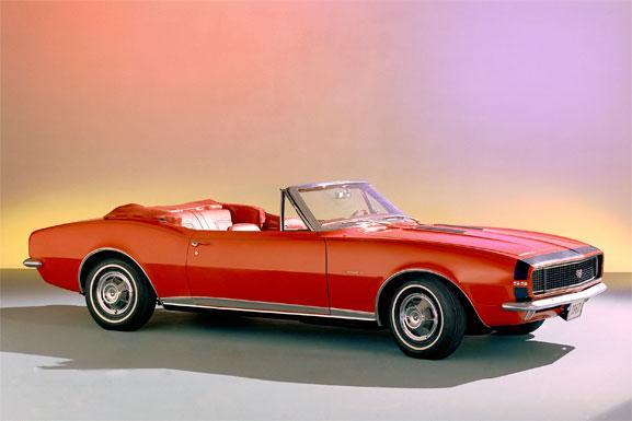 Primeira geração do Camaro, lançada em 1967, oferecia ampla gama de opcionais de personalização