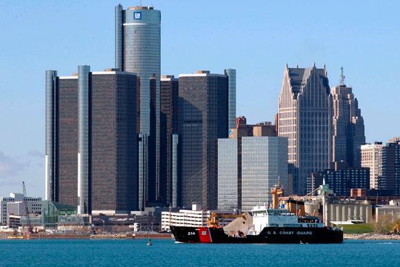 Sede da General Motors, em Detroit, mostra o crescimento da empresa nos seus 100 anos de exitência
