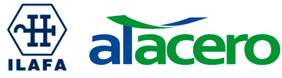 Da esq. p/ dir: marca do Ilafa que foi substituído pela nova associação Alacero (meca acima)