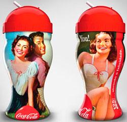 Copos para colecionar foram inspirados nas peças promocionais históricas da Coca-Cola
