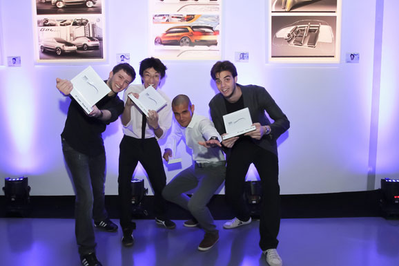 Da esq. p/ dir.: André Vinícius Levorato, George Kenji, Marcelo Pereira e Carlos Alberto Bueno