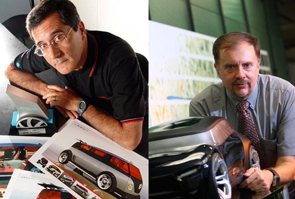 Luiz Alberto Veiga e Gerson Barone, gerentes executivos de design no Brasil e Alemanha, respectivamente