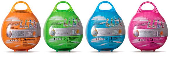 Cada embalagem resulta da recuperação de aproximadamente doze garrafas do material