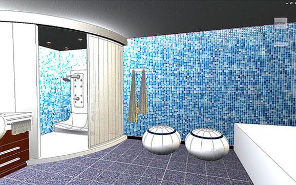 Projeto concebido no AutoCAD 2011 mostra realismo de diferentes tipos de materiais