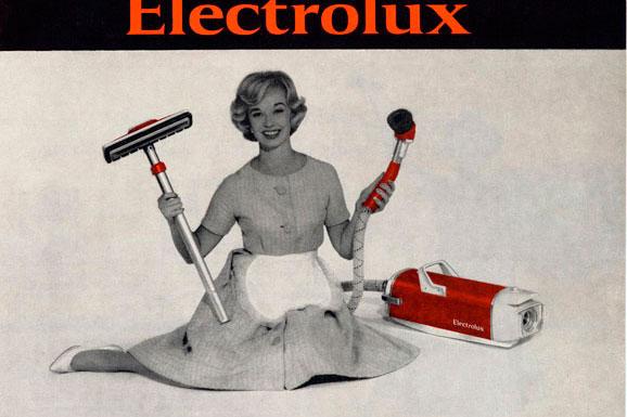 Propaganda de aspirador de pó da Electrolux mostra glamour do invento para uso doméstico