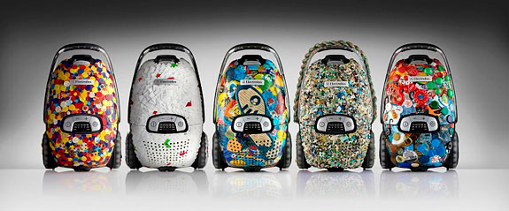 Aspiradores conceito produzidos pela Electrolux com plástico retirado dos oceanos