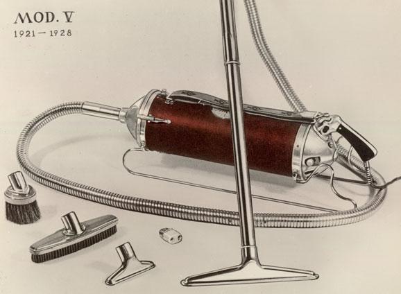 Luxomatic, novo aspirador de pó moderno inventado pela Electrolux em 1921
