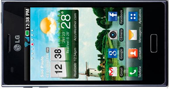 Com design premium Optimus L5 vem com o novo Android 4.0 e tela touchscreen de alto brilho