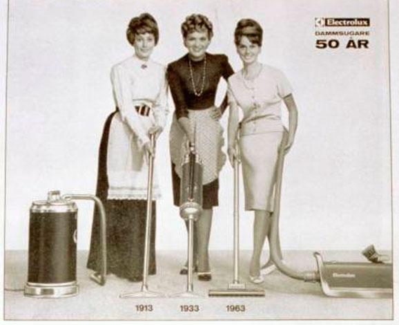 Conheça a evolução dos aspiradores de pó da Electrolux registrada no século XX