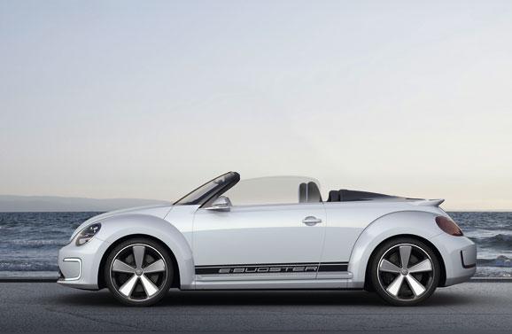 O carro conceito elétrico, Volkswagen E-Bugster, é considerado o Beetle mais esportivo de todos os tempos