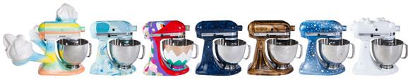 KitchenAid Stand Mixer nas sete versões customizadas pelos artistas plásticos