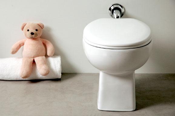 Bacia Studio Kids desenvolvida especialmente para atender à decoração dos banheiros infantis