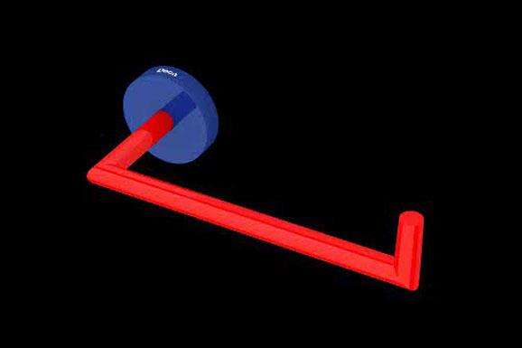 Azul e vermelho aplicados simultaneamente em tons primários atribuem um ar divertido e despojado ao ambiente