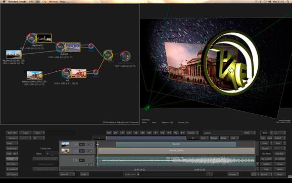 Smoke 2013 permite trabalhar com edição de vídeo e efeitos visuais em um só lugar