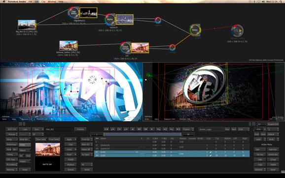 A interface de usuário do Smoke traz um fluxo de trabalho de criação completo e intuitivo