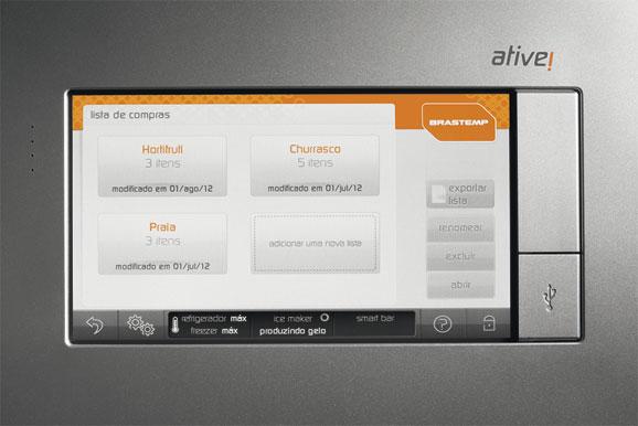 Central Inteligente do Inverse Maxi permite gerar lista de compras e enviar ao celular