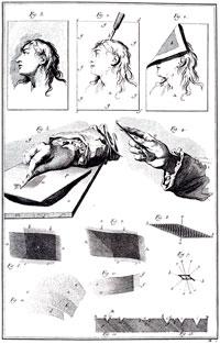 Representação da técnica de gravura em metal