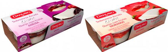 A mudança buscou evidenciar as diferenças entre as duas linhas de produto: Sobremesas Light e Creamcake