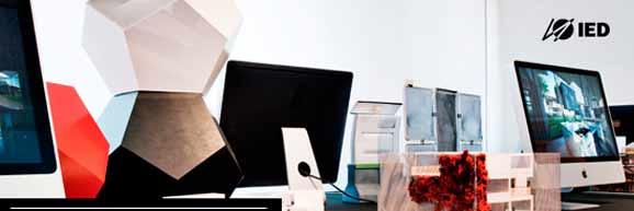 Imagem do site do IED SP que tem várias opções de cursos para especialização em design