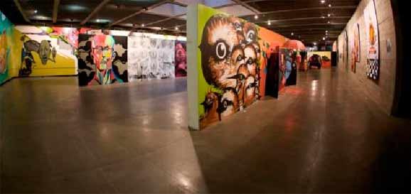 A Bienal apresenta um panorama dos mais diversos estilos, técnicas e conceitos do graffiti