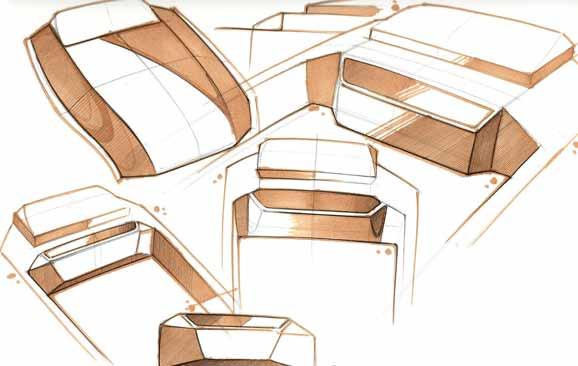 Sketches indicam mudanças sendo feitas no design do tanquinho. que teve sua capacidade autmentada