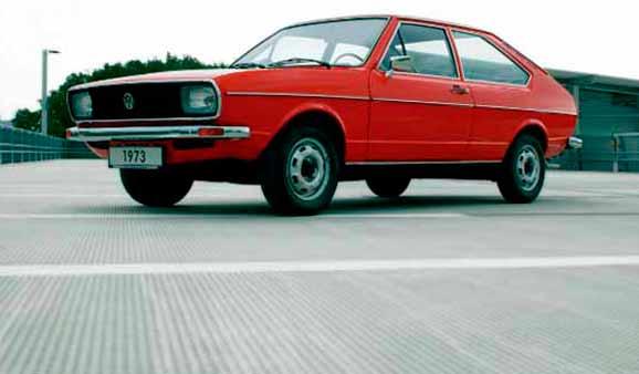 Passat, concebido pela Italdesign, em 1973, representou o começo do relacionamento com a Volkswagen