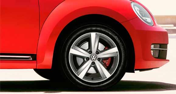 As rodas de liga leve do novo Fusca chegam para mostrar que modernidade também combina com tradição