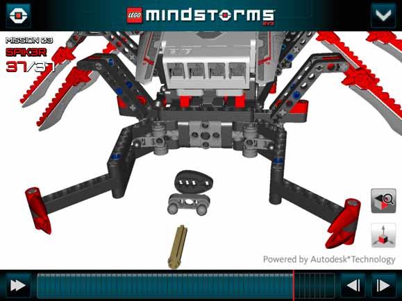 """SPIK3R"""", o robô com aparência de escorpião na tela do aplicativo desenvolvido com a tecnologia Autodesk"""