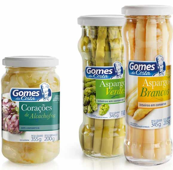 Embalagens das conservas destacam imagens dos vegetais para despertar appetite appeal