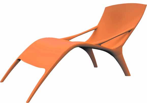 Chaise longue criada pelos alunos do IED faz parte do conjunto de móveis criados para o Desafio Design