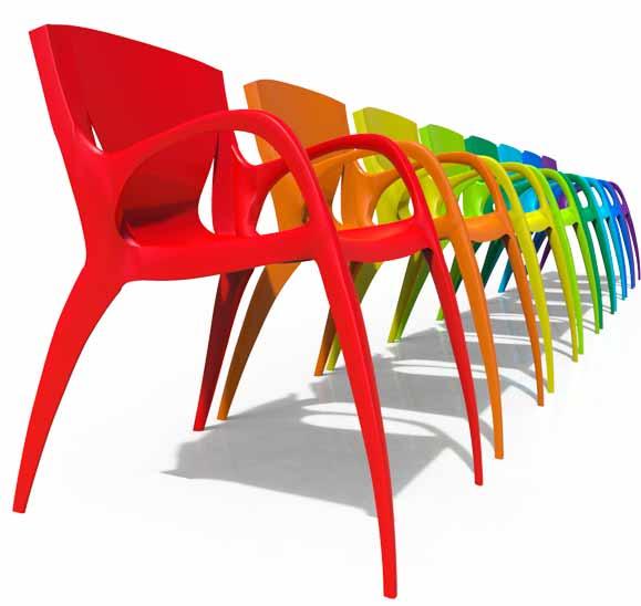 Cadeiras criadas pelos alunos do IED se destacam pela leveza dos seus traços e cores divertidas